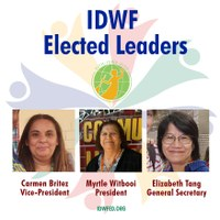 Congress of International Domestic Workers Elects Its Leaders – Re-elections of Myrtle Witbooi as President and Elizabeth Tang as General Secretary