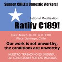 "Chile: National Coordinator of Organization Household Workers walk summons ""for the ratification of the Convention 189 ILO in Chile"""
