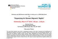 CSW59: IDWF Presents at UN on Organizing for Women Migrants' Rights