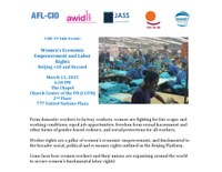 CSW59: Women's Economic Empowerment and Labor Rights