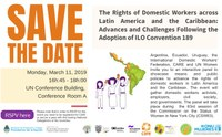 CSW63: The Rights of Domestic Workers across Latin America and the Caribbean: Advances and Challenges Following the Adoption of ILO Convention 189