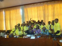Guinea: Historic workshop for domestic workers - Domestic workers in Guinee Parliament