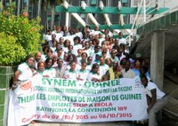 Guinea: SYNEM organized workshop for domestic workers on Ebola and hygiene