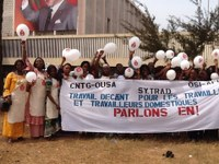 Guinea: SYNTRAD participated in the festival of International Women's Day