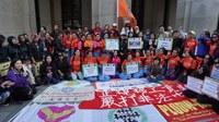 Hong Kong: FADWU sisters rally on the International Migrants Day 2016