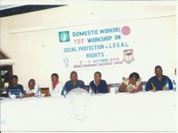 Malawi: CIAWU workshop for domestic workers' leaders