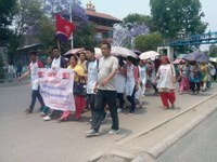 Nepal: HUN members rally for May Day