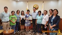 Philippines: IDWF Courtesy Call to the Department of Labor and Employment on May 16, 2016