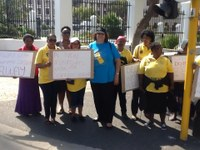 South Africa: SADSAWU protest at the Parliament demanding law protection for domestic workers