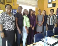 Trinidad & Tobago: NUDE members with National Training Agency representatives