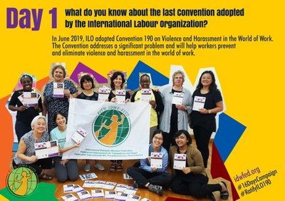 1. What do you know about the last Convention adopted by the International Labour Organization?