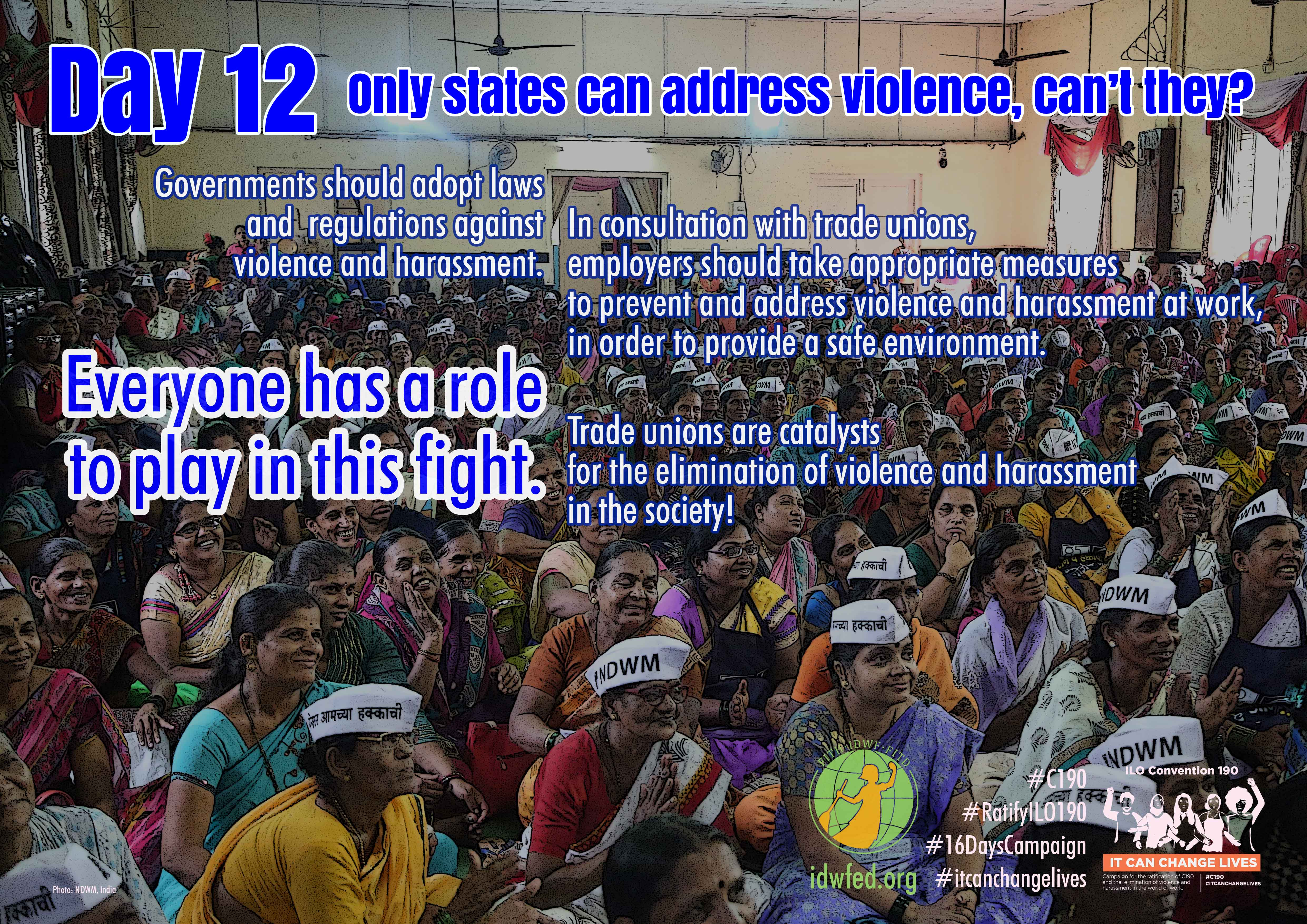 12. Only states can address violence, can't they?