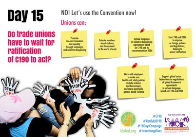 15. Do trade unions have to wait for ratification of C190 to act?