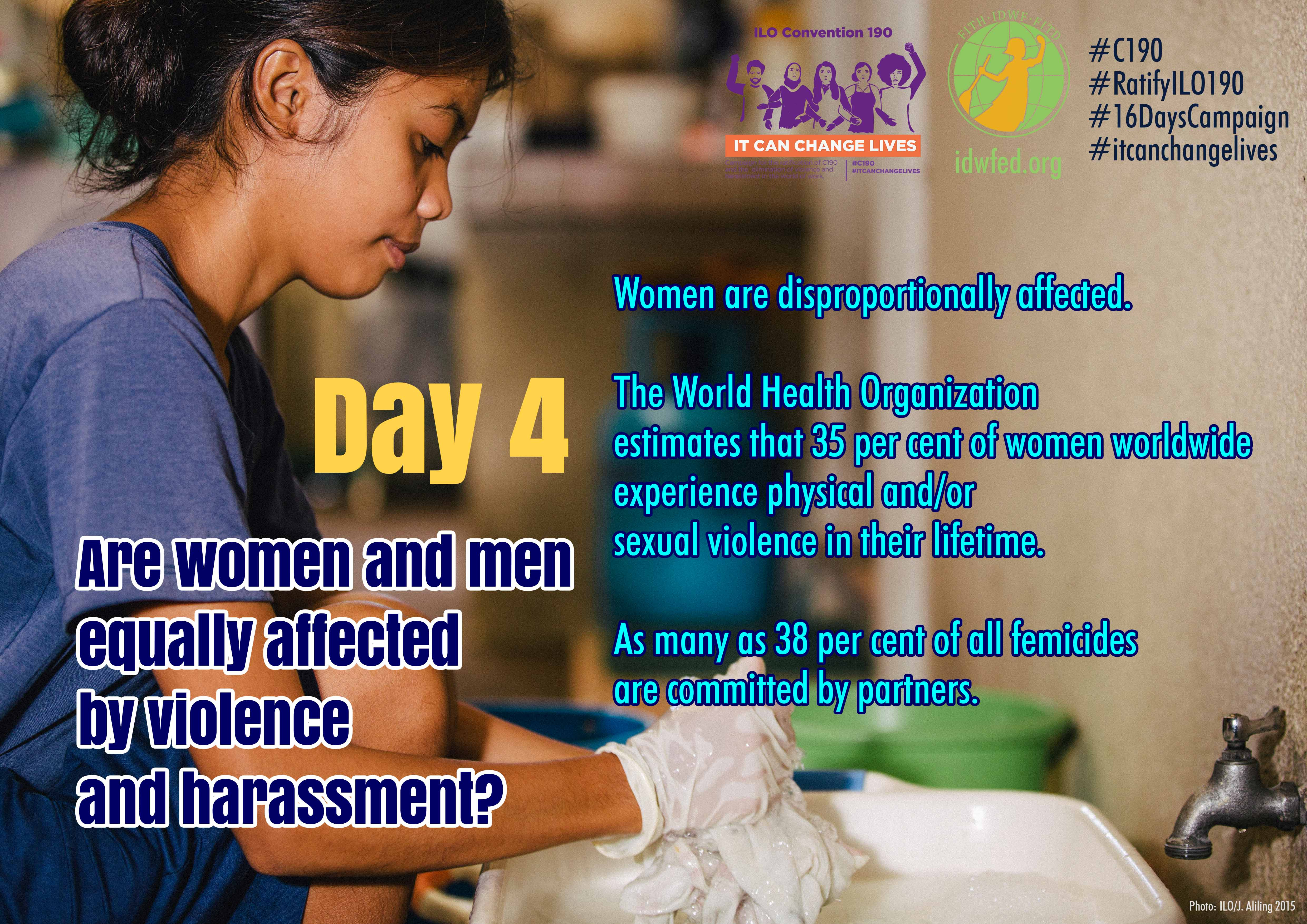 4. Are women and men equally affected by violence and harassment?