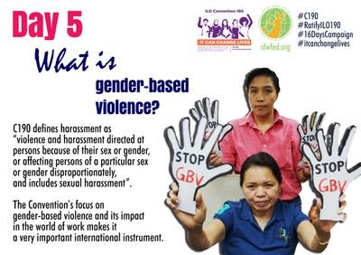 5. What is gender-based violence?