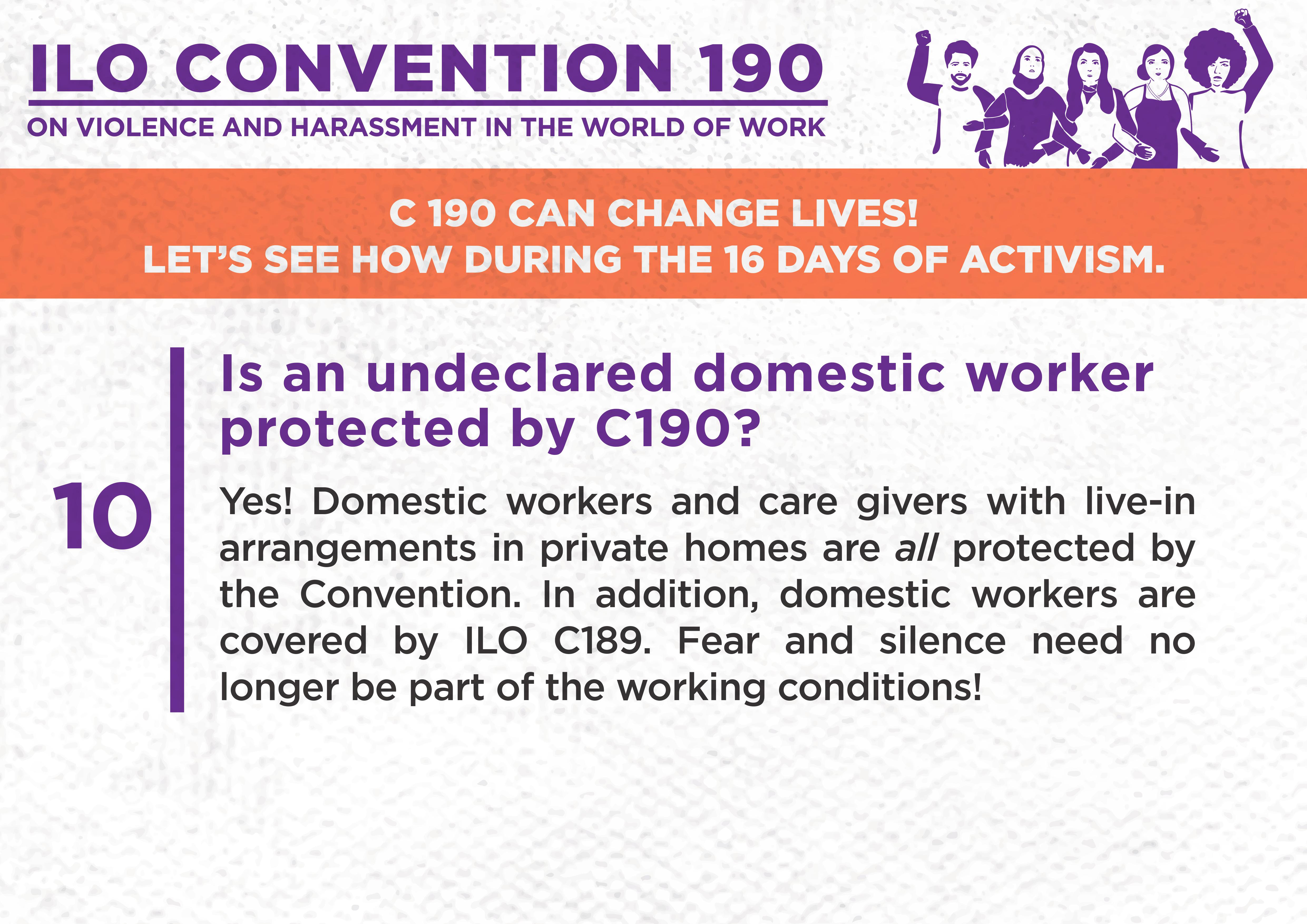 10. Is an undeclared domestic worker protected by C190?