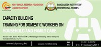 Bangladesh: CAPACITY BUILDING TRAINING FOR DOMESTIC WORKERS ON HOUSEHOLD AND FAMILY CARE