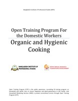 Bangladesh: Open Training Program For the Domestic Workers on Organic and Hygienic Cooking