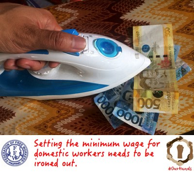 Minimum wage for domestic workers needs to be ironed out