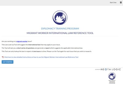 Diplomacy Training Program Migrant Worker - International Law Reference Tool