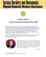 Across Borders and Movements: Migrant Domestic Workers Resistance