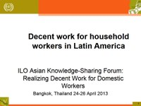 Decent Work for Household Workers in Latin America
