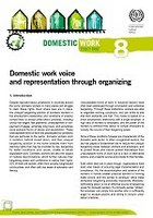 Domestic work voice and representation through organizing
