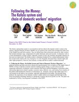 """""""Following the Money: the Kafala System and Chain of Domestic Workers Migration"""" - Report of the IDWF Panel at the Global South Women's Forum  (GSWF) December 14, 2020"""