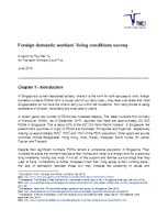 Foreign domestic workers' living conditions survey