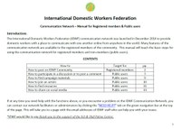 IDWF Communication Network – Manual for Registered members & Public users