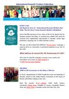 IDWF e-Newsletter #11 - April 2016