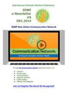 IDWF e-Newsletter #6 - DEC 2014