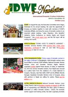 IDWF e-Newsletter #8 - OCT 2015