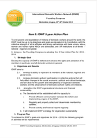 IDWF Five Year Action Plan 2014 - 2018