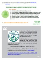 IDWN e-Newsletter - JUNE 2013 Issue No. 11