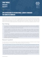 ILO What Works Research Brief No. 9 - Implementation of international labour standards for domestic workers