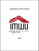 IMWU NL Annual Report 2013