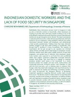 Indonesian Domestic Workers and the Lack of Food Securtiy in Singapore
