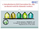 Introduction to ILO Convention No. 189 on decent work for domestic workers