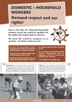 """Leaflet """"Mobilise for an ILO convention"""" - Domestic workers demand respect and our rights"""