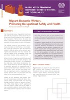 Migrant Domestic Workers: Promoting Occupational Safety and Health