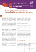 Protecting Migrant Domestic Workers: The international legal framework