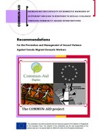 Recommendations For the Prevention and Management of Sexual Violence Against Female Migrant Domestic Workers