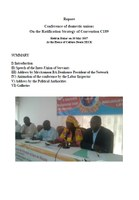 Report - Conference of domestic unions On the Ratification Strategy of Convention C189 in Senegal