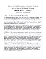 Report on the IUF Executive Committee Meeting and the Women Committee Meeting, Geneva, April 22 – 24, 2015
