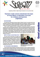 Teachers' trade unions mainstream the topic of child labour in education curricula for children and teachers in Tajikistan