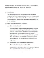 The Brief Report on the ITUC-IUF Workshop in Johannesburg South Africa April 2011