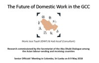 The Future of Domestic Work in the GCC