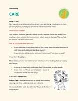 Understanding CARE