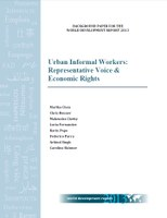 Urban Informal Workers: Representative Voice & Economic Rights